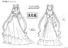Sailor Moon Settei Sheet, Princess Serenity