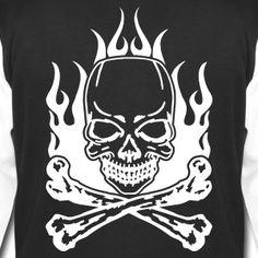Burning Skull - College Jacke für Männer - College-Sweatjacke