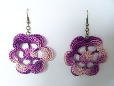Flower crochet earrings... Free pattern!!