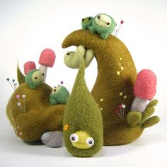 Needle felting by Kit Lane
