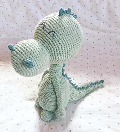 """191 Likes, 9 Comments - With Love (@_crochet_withlove) on Instagram: """"Good Night ! . #grinsedrache ♡ . . #goodnight #nightnight #gutenacht #schlicht #pastelltöne…"""""""