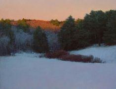 """Winter Evening"". Oil on linen, 20 x 26. T. Allen Lawson, 2009"