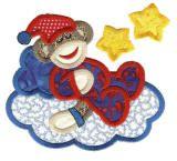 sleepy slumber sock monkeys embroidery design