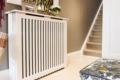 A Manhattan style radiator cover is perfect in this space! Interior Decorating, Interior Design, House And Home Magazine, Home Repair, Home Hacks, My Living Room, Radiators, Decoration, Home Projects