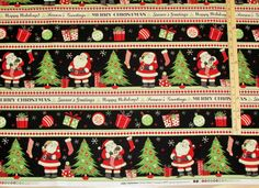 Jolly Christmas Santa Sampler Debbie Mumm Fabric
