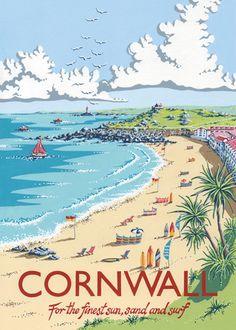 Cornwall art print by Kelly Hall at Easyart.com