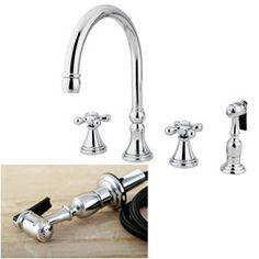 Pfister Bellport 2Handle 4Hole Lead Free Kitchen Faucet W Unique 4 Hole Kitchen Faucet Design Inspiration