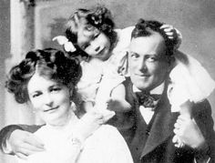 The Crowley family in 1909: Aleister and Rose Crowley, and their daughter Lola.   - WOW, I'll have to look into these guys for a possible book 3