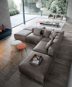 13 Modern Minimalist Sofa Design You Must Try - In the selection of living room sofa furniture, usually, homeowners often refer to interior themes that are appl Couch Furniture, Living Room Furniture, Living Room Decor, Furniture Design, Living Room Sofa Design, Living Room Modern, Living Room Designs, Small Living, Canapé Design