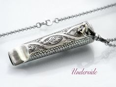 1908 Sterling Silver Whistle Needle Case by ClosetGothic on Etsy
