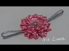 Como fazer flor de fita parte 2 / DIY , TUTORIAL, PAP By Iris Lima - YouTube