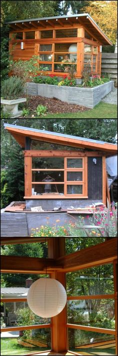 The designer who imagined and built this structure had nothing more than a practical tool shed in mind. It changed and grew to become a peaceful retreat for his step-mother, who was recovering from cancer. Visit this humble garden studio by viewing the full gallery on our site at http://theownerbuildernetwork.co/2w26 Have you ever considered building for someone else?