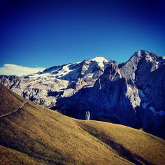 View of Mount Marmolada from \'Viel del Pan\' Trail