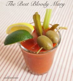 The Best Bloody Mary Recipe for my auntie