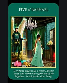 ~Five of Raphael card from Archangel Power Tarot Cards by Doreen Virtue and Radleigh Valentine~