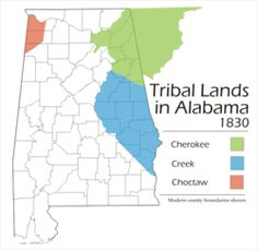 """March 24, 1832: In Washington, D.C., representatives of the Creek Indians sign a treaty ceding """"to the US all their land, East of the Mississippi,"""" which included large portions of east Alabama. Known as the Treaty of Cusseta, it was negotiated in the wake of the Indian Removal Act of 1830. Approximately 20,000 Creeks were removed to the Oklahoma Indian Territory by 1840, although some remained, including the ancestors of the Poarch Band of Creeks, who are concentrated near Atmore, Alabama."""