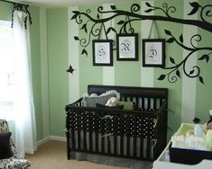 Baby room, frames with their initials!