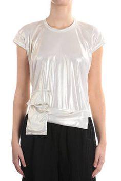 gold foil print polyester jersey t-shirt - COMME DES GARÇONS