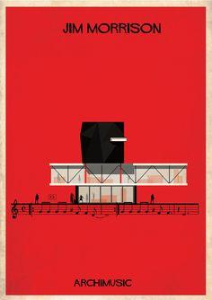 Galeria - ARCHIMUSIC: Ilustrações transformam música em arquitetura - 271