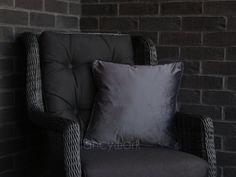 Velvet Pillows, Throw Pillows, Plain Cushions, Velvet Material, Pillow Inserts, Grey, Cover, Room, Home Decor