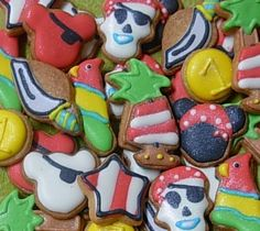 @Lisa Smith and I could do this! Pirate Mickey Mouse Mini Sugar Cookie Bites - 2 Dozen. $14.00, via Etsy.