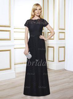 Kleider für die Brautmutter - $162.01 - A-Linie/Princess-Linie U-Ausschnitt Bodenlang Spitze Kleid für die Brautmutter mit Rüschen (0085058410)