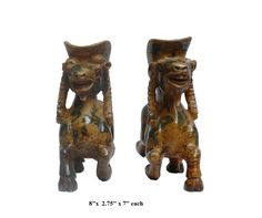 Pair Chinese Oriental Jade Stone Carved Artisitc Ram Figures