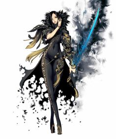 blade and soul anime Female Character Concept, Fantasy Character Design, Character Design Inspiration, Character Art, Fantasy Art Women, Dark Fantasy Art, Fantasy Girl, Blade And Soul Anime, Shadow Warrior