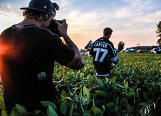 Foxy Dave Sandford capturing Carter during sunset with the cup.