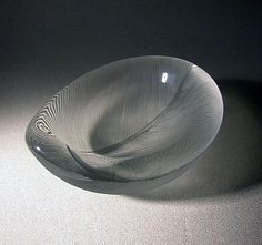TAPIO WIRKKALA - Art glass object designed in 1954 for Iittala, Finland.   [w. 8 cm] Glass Design, Design Art, Glass Furniture, Bowl Designs, Finland, Stained Glass, Decorative Bowls, Glass Art, Design Inspiration