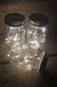 Fairy lights, Great buy, Battery operated led lights with the smallest battery pack on the market for beautiful Mason jars This listing is for 12 Mason jar lanterns pint or quart size Pot Mason Diy, Mason Jar Lanterns, Mason Jar Lighting, Mason Jar Crafts, Mason Jar Lamp, Mason Jar With Lights, My New Room, Fairy Lights, Fairy Lanterns