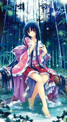 "World of two-dimensional in Japan ""Kimono"" #anime #manga #illustration"