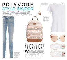 """Cool Backpacks"" by katsin90 ❤ liked on Polyvore featuring Rip Curl, Prada Sport, Hanes, Alexander Wang, Linda Farrow, Thomas Sabo, McGinn, backpacks, contestentry and PVStyleInsiderContest"