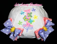 BIRTHDAY Bloomers BUTTERFLY SWEETNESS by LilLoveyBoutique on Etsy, $22.00