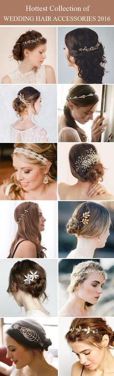 2016 hottest wedding hair accessories, hairpieces, headbands, hair combs and pins from @tullechantilly