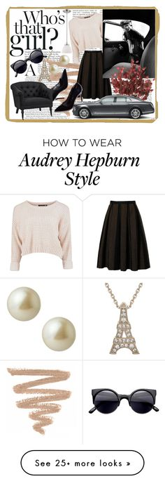 """Audrey H."" by catgoddess on Polyvore featuring Bardot, Eichholtz, Carolee, audrey and hepburn"