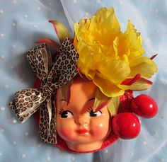 Dollface Fascinator Hat  Leopard by rascalkosher on Etsy, $65.00