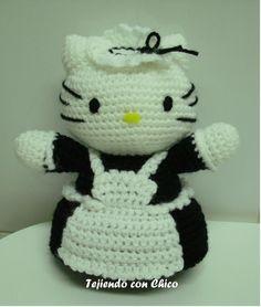 Patron De Hello Kitty En Amigurumi : Hello Kitty Sirvienta - Patron Gratis en Espanol aqu? ...