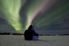 Aurora Borealis at Äkäslompolo (Lapland, Finland) ~ love ♥