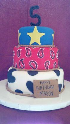 Cowboy birthday cake Cowboy Birthday Cakes, Cowboy Cakes, Birthday Fun, 1st Birthday Parties, Birthday Ideas, Party Themes, Party Ideas, Cakes For Men, Cake Ideas