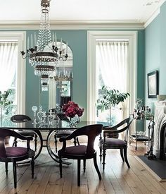 Coastal-Blue Dining Rooms