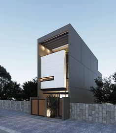 Duplex House Design, House Front Design, Small House Design, Modern House Design, Minimalist Architecture, Facade Architecture, Residential Architecture, Villa Design, Facade Design