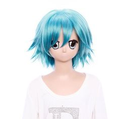 SureWells Nice wigs Cosplay Wigs C Q Short Shining Blue Wigs Cool Boys Cosplay Wigs Party Wigs Costume Wigs by SureWells. $23.79. Color : AS PICTURE ,Color Shown: (Color may vary by monitor.). Material : High temperature wire. Length :about 13.78 inch. Hair Style: Cosplay Wigs. Package:1 PCS. Brand: SureWells Recommended features: 1. Super natural wig , suitable for almost every lady aged from teenagers to adults. 2. With the high technology, Miss Beauty wig series a...