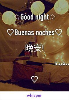 ☆Good night☆  ♡Buenas noches♡  晚安!  ليلة سعيدة  ♡