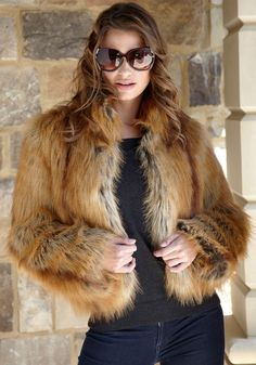 Golden Fox Faux Fur Fashionista Jacket....same jacket, different fur