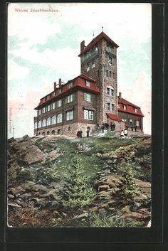 Jeschken / Ještěd | Liberecký kraj / Region Reichenberg | old Postcards 1908 My Roots, Old Postcards, Czech Republic, Homeland, World, Places, Europe, Bohemia, Lugares