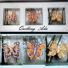 Quilling, butterflies by Quilling Ada