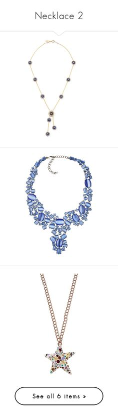 """Necklace 2"" by theprissydiary ❤ liked on Polyvore featuring jewelry, necklaces, blue, swarovski crystal pendant necklace, beaded necklaces, swarovski blue crystal necklace, long beaded necklace, long lariat necklace, silver and bib jewelry"