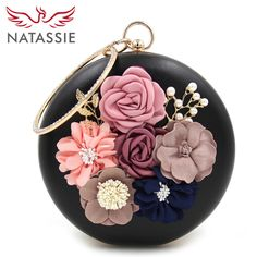 24.70$  Buy now - http://alitvg.shopchina.info/go.php?t=32793206789 - NATASSIE 2017 New Women Party Bag Ladies Flower Wedding Bag Female Evening Clutches   24.70$ #SHOPPING
