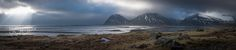 Panaromic View of Iceland - This photo is captured as 6 portrait photo and processed in LR6.